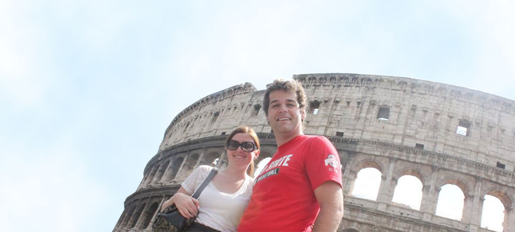 Nick and Brittany in Rome, Italy