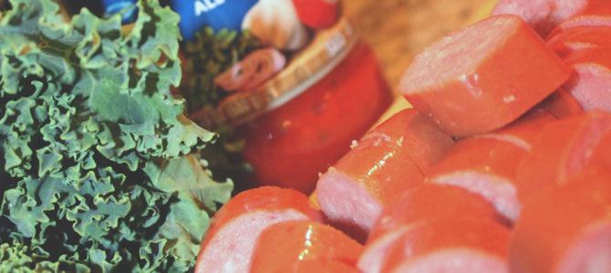 Polenta, Sausage, and Kale Marinara with Degustabox