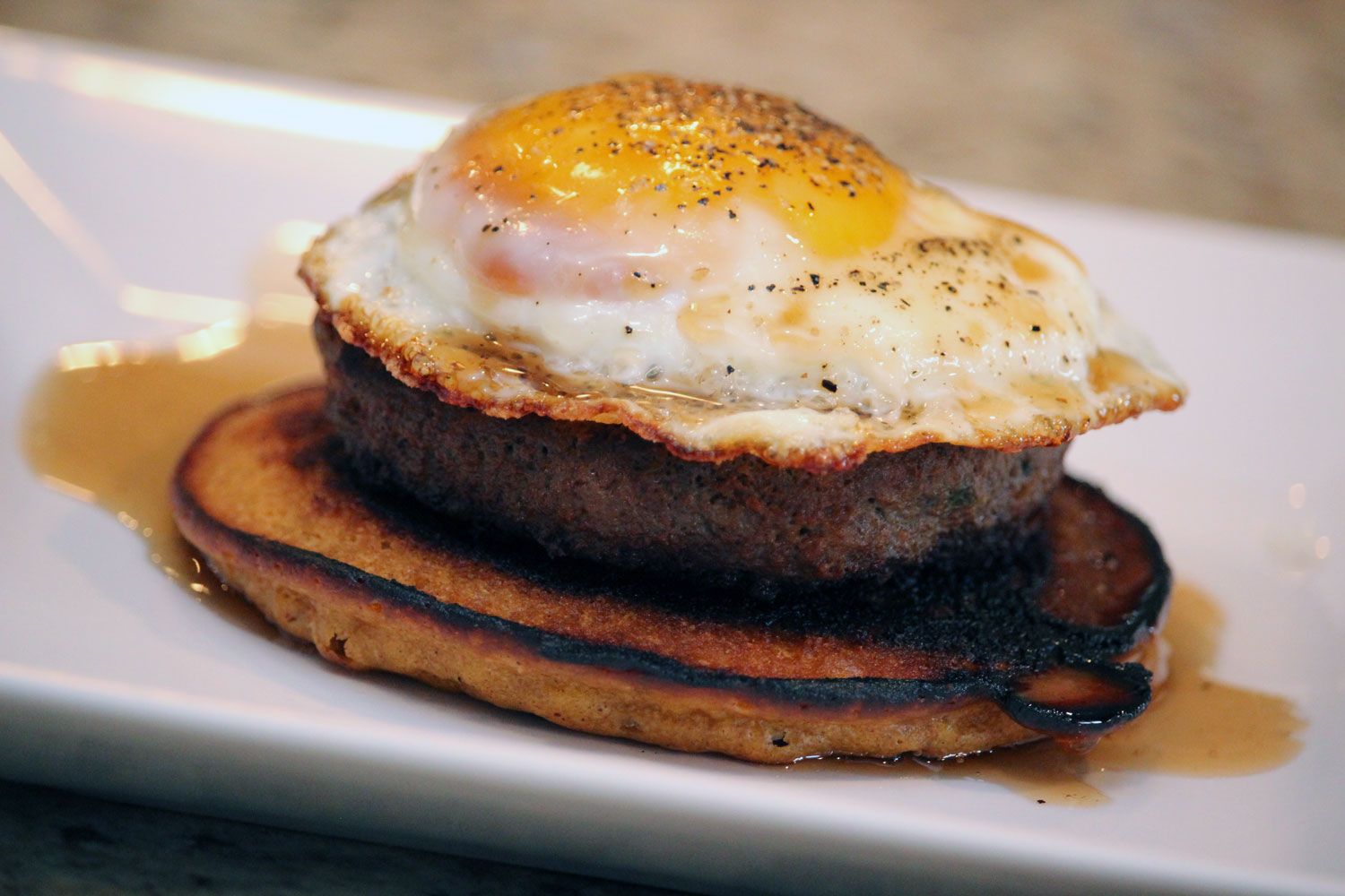 Savory Pancake Breakfast Stacks | Bottles & Banter