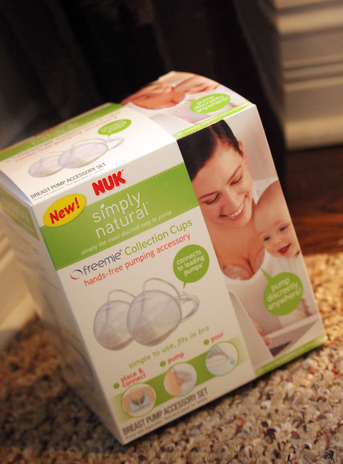 NUK Simply Natural Freemie Cups: Hands Free Pumping | Bottles & Banter