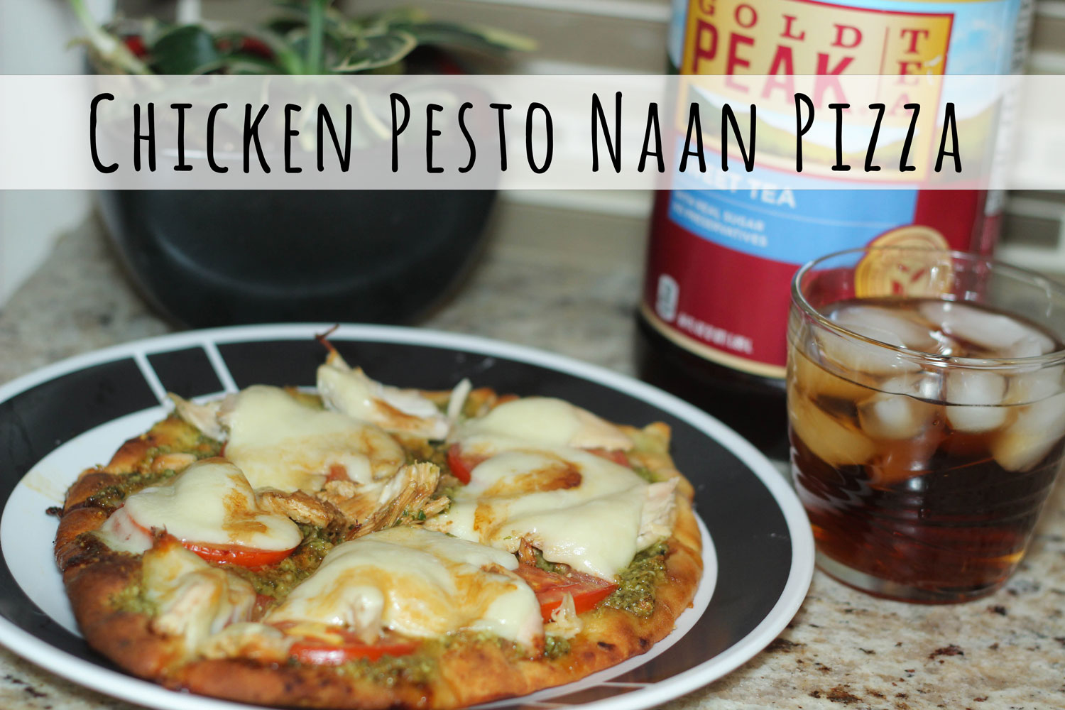 Chicken Pesto Naan Pizza with Jewel Osco Meal Deals | Bottles and Banter