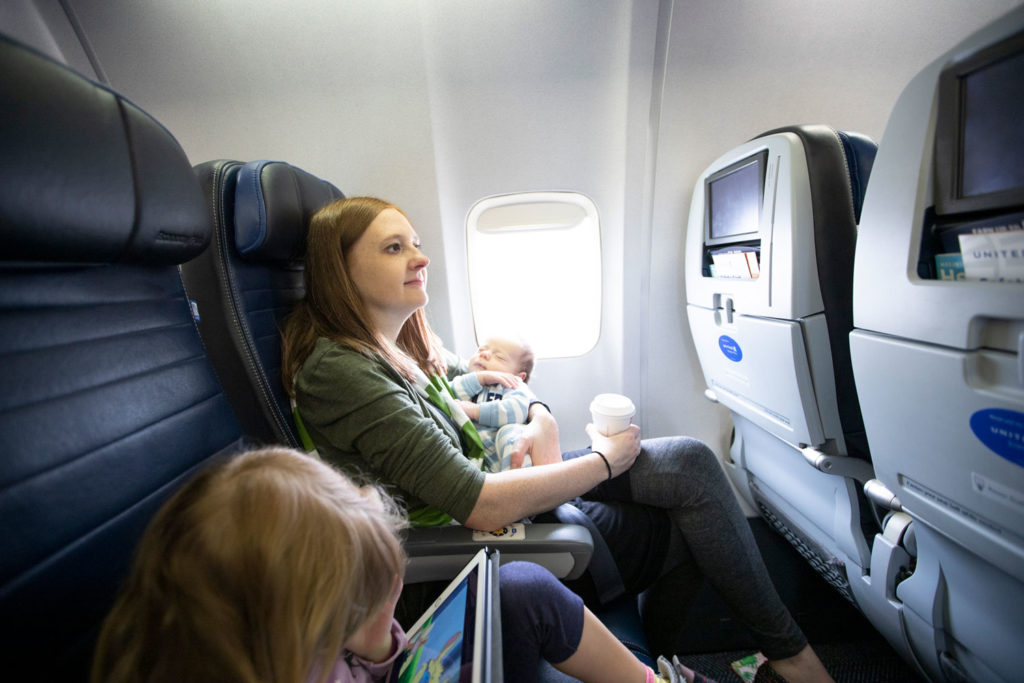 Baby's first flight!