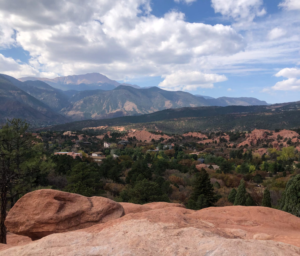 View from Garden of the Gods in Colorado Springs