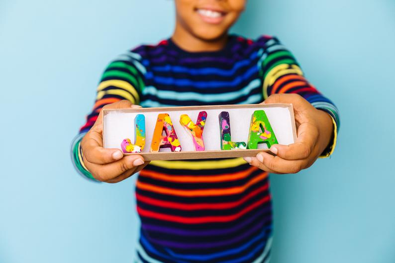 Personalized rainbow name crayons | gifts for toddlers who have everything