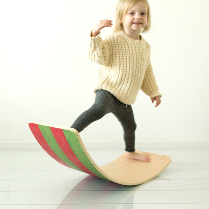 Wooden Balance Board Bunny Hopkins Toys | gifts for toddlers who have everything