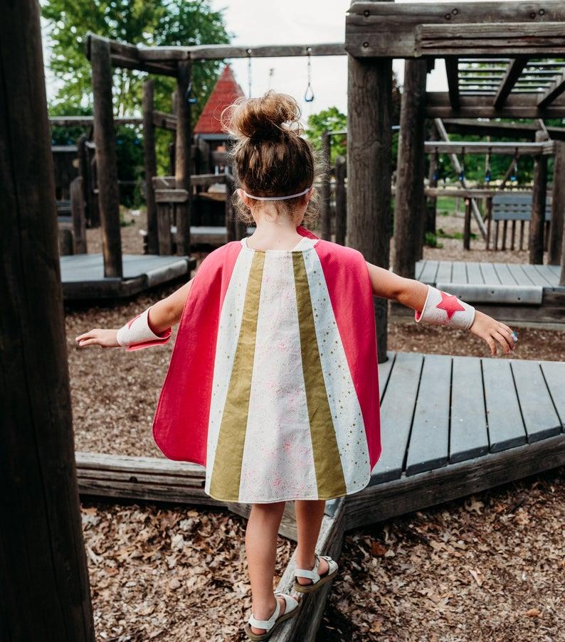 Kids superhero cape from KindKidSquad on Etsy