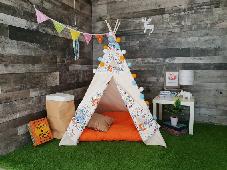 Kids Happy Camper Fox TeePee | Gifts for toddlers who have everything