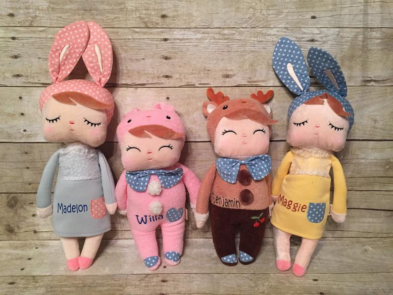 Personalized soft plush dolls for toddlers