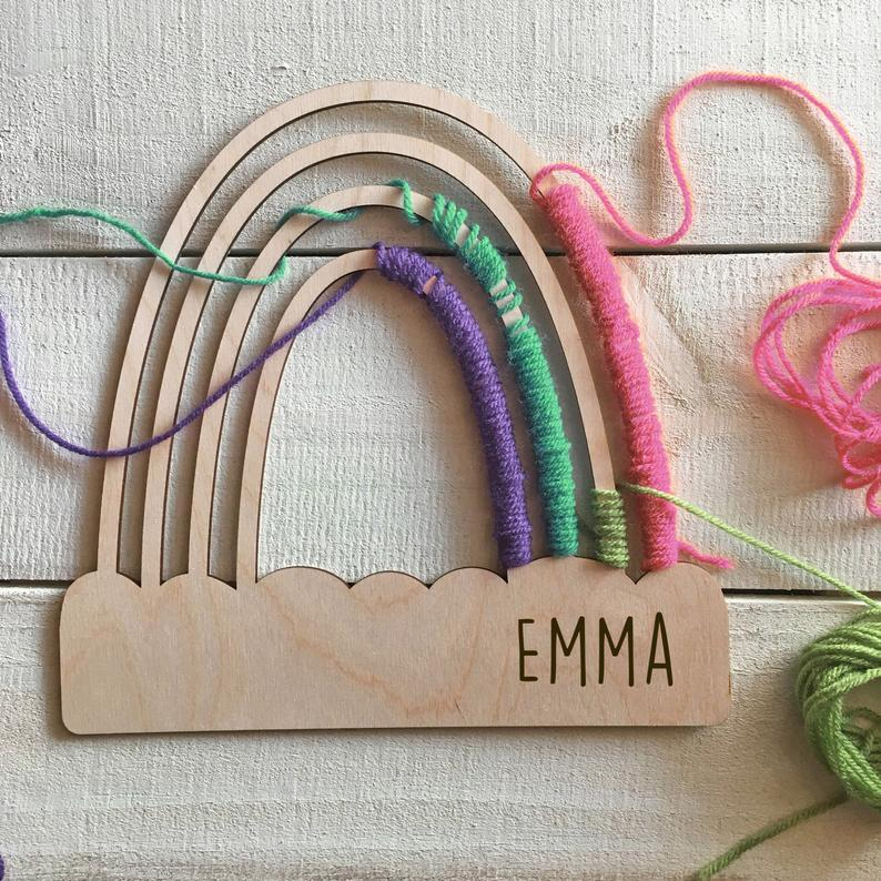 Large Personalized Rainbow Craft for Kids